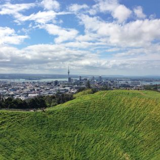 View looking towards Acukalnd city, New Zealand