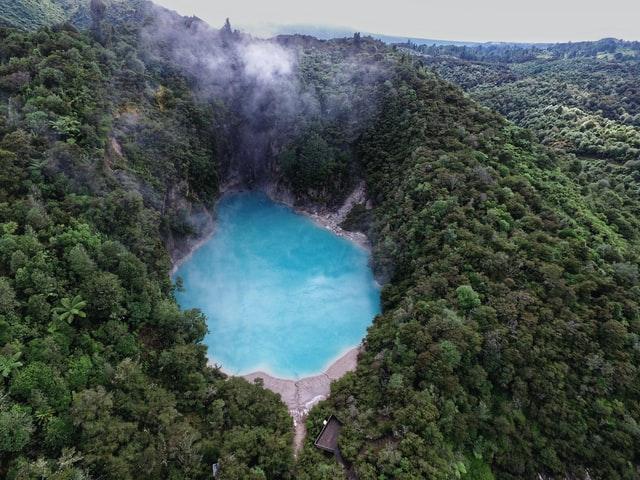 inferno crater at waimangu volcanic valley