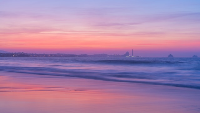 sunset at fitzroy beach