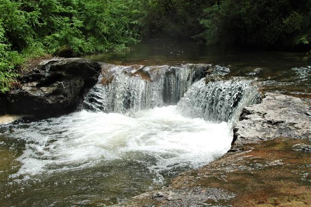 steaming waterfall in rotorua